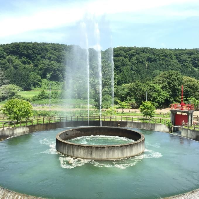 ⛲ @ 日本最大級の円筒分水工