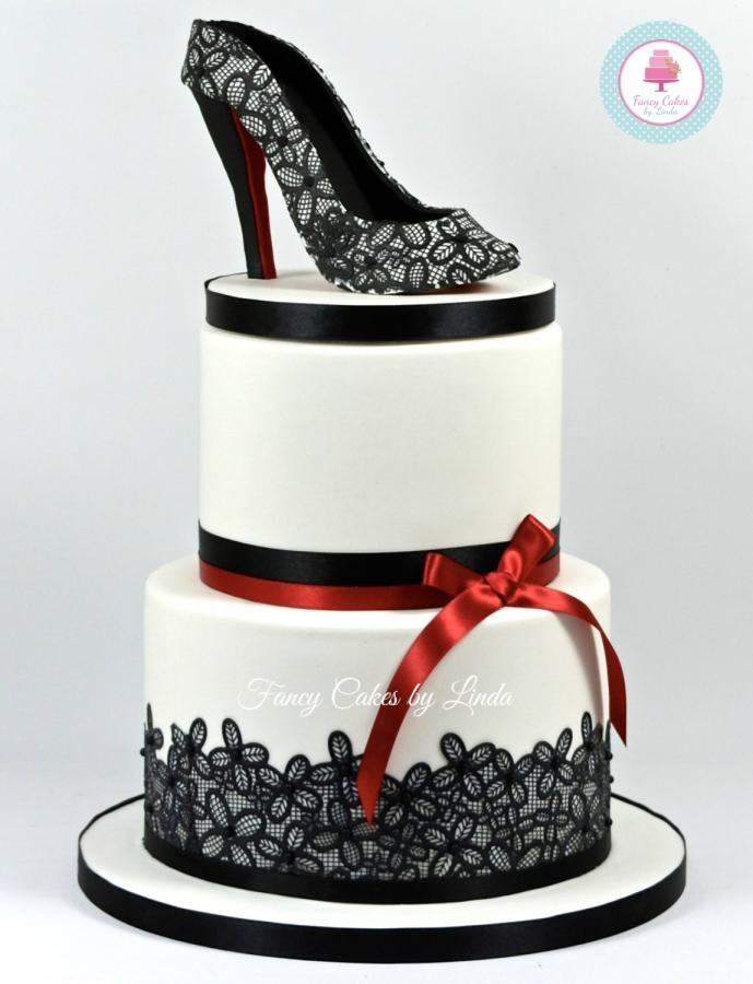 Birthday Cake Designs Shoes : Shoe Cake - Shoe Design Inspired by Christian Louboutin ...