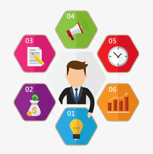 PPT business material PNG and Vector