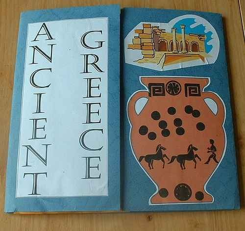 Homeschool activities for an Ancient Greece Unit Study middle schoolers and their siblings...  http://www.squidoo.com/ancient-greek-activities Greece Lapbook cover