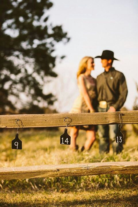 Save the Date w/Cattle Tag Numbers - Cowgirl Brides & Country Weddings