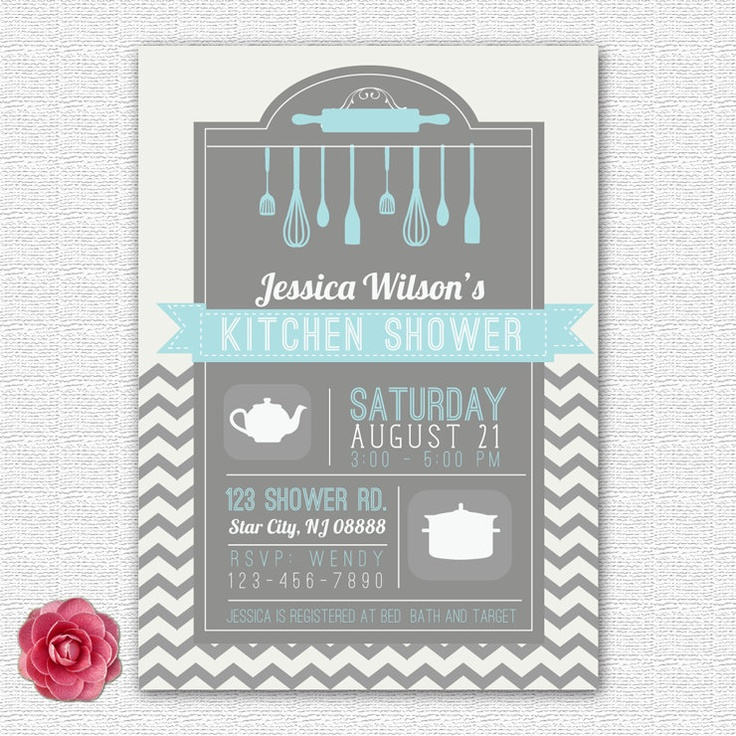 Bridal / Kitchen / Wedding Shower Invitation Chevron By ElleOL This One  Comes In Royal Blue Too, But Iu0027m Not Sure Weu0027re Going For A Kitchen Shower. Part 63
