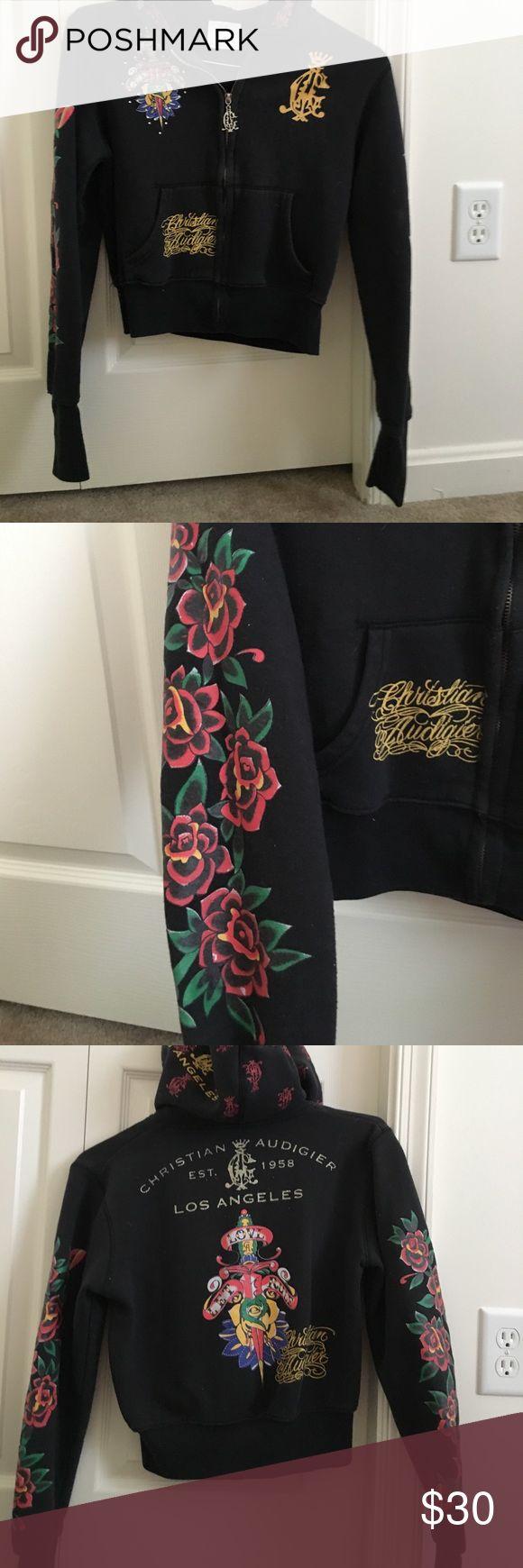 Christian Audigier zipper hoodie Very cute , crop hoodie jacked lots of detail Christian Audigier Other