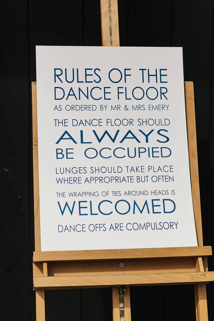 Dance Floor Rules Sign | Photography by http://www.pauljosephphotography.co.uk/