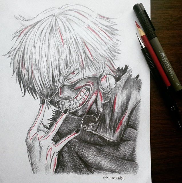Tokyo Ghoul. Yup, I Just Had To Draw That