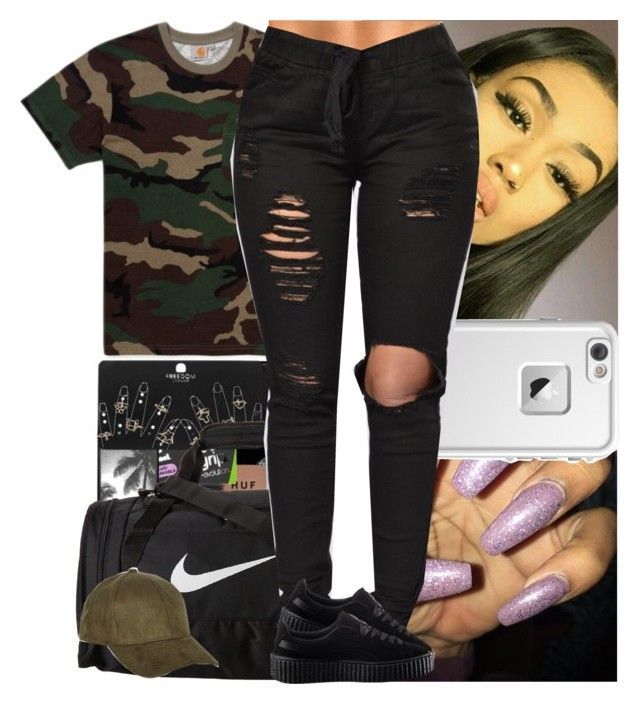 """""""Untitled #730"""" by msixo ❤ liked on Polyvore featuring NIKE, Carhartt, LifeProof, Puma and River Island"""