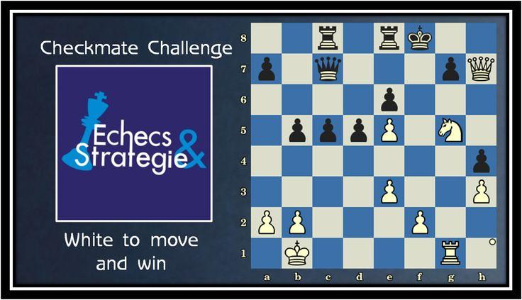 Daily chess training. White Mates in 4. Miles vs Ole Jakobsen, Esbjerg, 1984 #echecs #chess #ajedrez www.jouer-aux-echecs.com