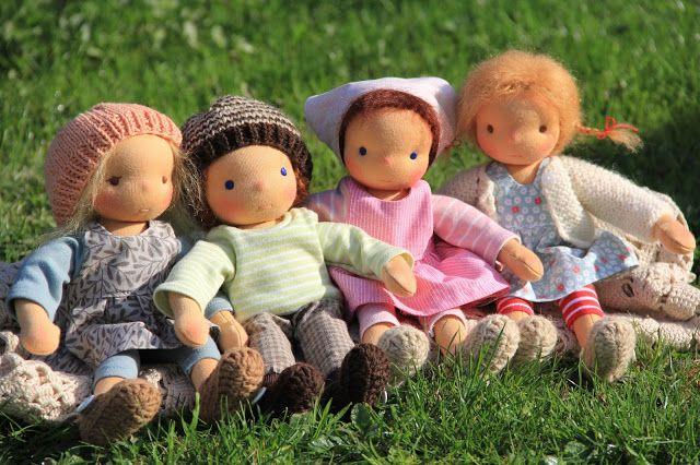 Barbaras Blumenkinder und Puppen Welt: Prim, Linus, Rose und Finja