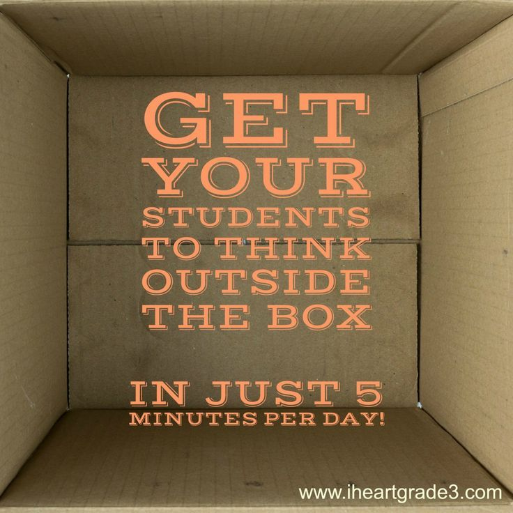 Get Your Students to Think Out of the Box in just 5 minutes per day!