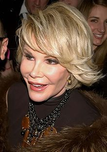Joan Alexandra Molinsky[1] (previously Rosenberg; June 8, 1933 – September 4, 2014)[2], known by her stage name Joan Rivers, was an American actress, comedian, writer, producer and television host, best known for her stand-up comedy, for co-hosting the E! celebrity fashion show Fashion Police, and for starring in the reality series Joan & Melissa: Joan Knows Best? alongside her daughter Melissa Rivers.