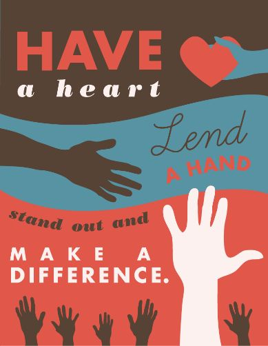 It's Make a Difference Day-a day to get started on community service. Do what you can to make a difference where you can. If you already have-great!
