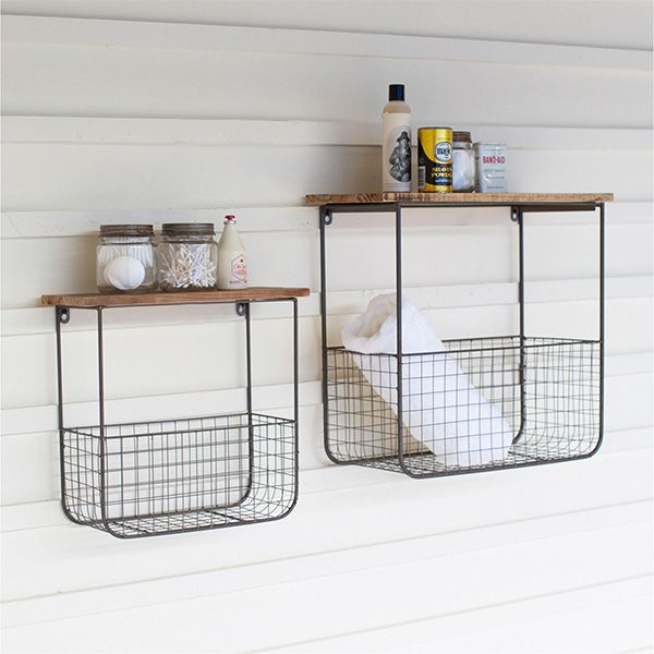 Industrial Wall Storage Shelf Basket Set Wire Basket Shelves Wire Wall Basket Wall Storage Shelves