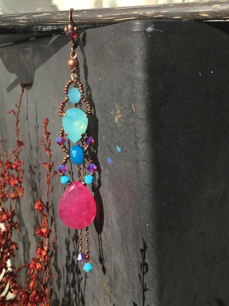 """Boucles d'oreilles """" marquise""""de la nouvelle collection Karizen bijoux"""
