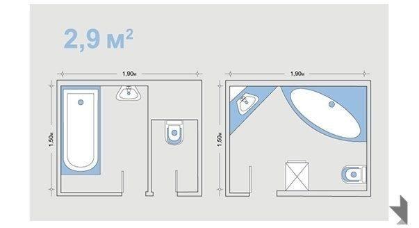 Шпаргалка по планировке санузла, с учетом эргономических норм - Дизайн интерьеров   Идеи вашего дома   Lodgers