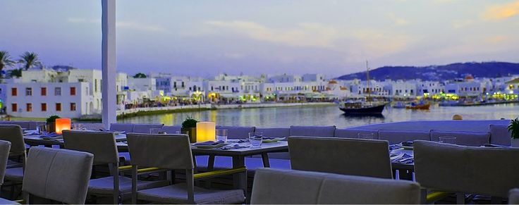 Remezzo restaurant in Mykonos Town. Not to be missed !! Best view, impeccable service, Greek Fine Dining !
