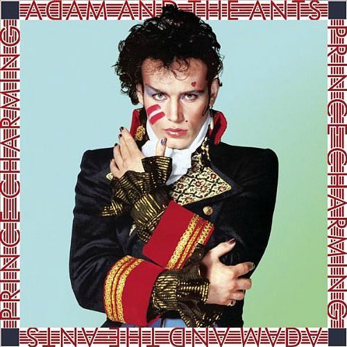 Adam Ant on the cover of the Prince Charming album