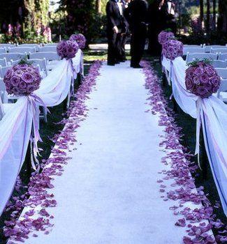 Wedding, Ceremony, Purple: Outdoor Wedding, Wedding Aisle, Wedding Ideas, Wedding Stuff, Purple Wedding, Dream Wedding, Weddingideas, Future Wedding