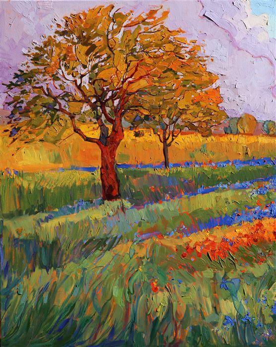 Colors of Brenham - Modern impresszionizmus | Kortárs Tájkép Eladó olajfestmények Erin Hanson