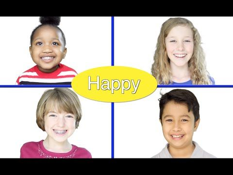 """Feelings"" - Emotions song for children by Patty Shukla Funny Facial Expressions - YouTube"