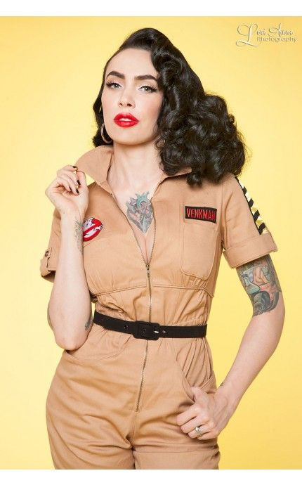 Pinup Girl Clothing - Peter Venkman Ghostbusters Jumpsuit | Pinup Girl Clothing