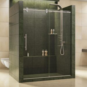 Tall Frameless Sliding Shower Doors