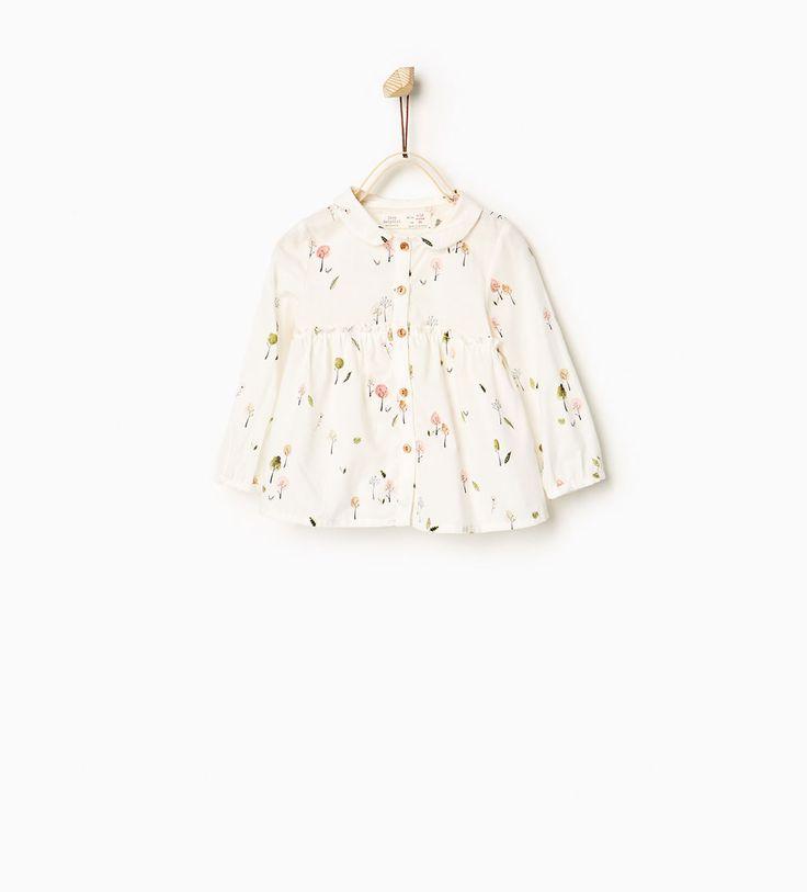 Trees shirt-SHIRTS-Baby girl-Baby   3 months - 3 years-KIDS   ZARA United States