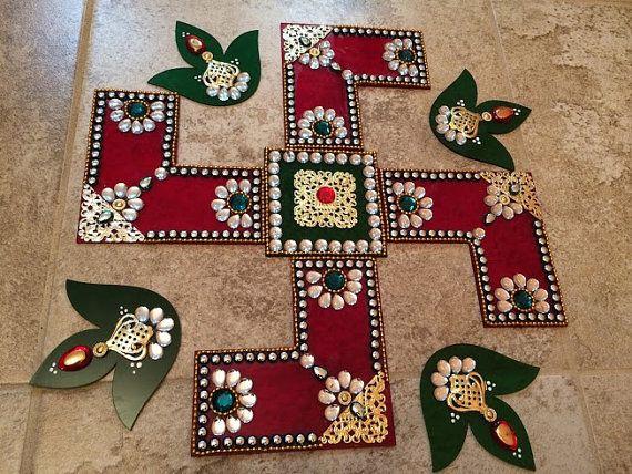Rangoli Swastik/ Swastika  Traditional for by JustForElegance, $29.00