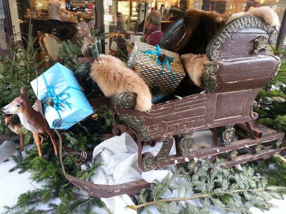 Schlitten auf dem Weihnachtsmarkt Münster