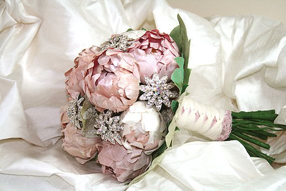 Bridal bouquet Made to order Forever Spring by hairbowswonderworld, $425.00