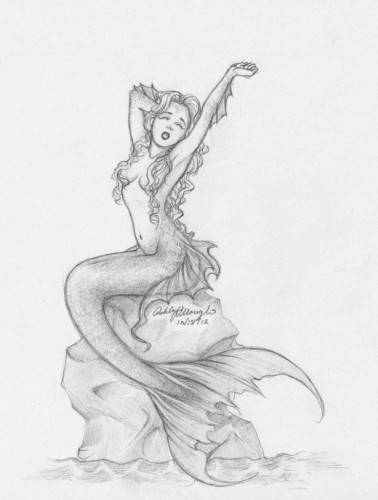Картинка карандашом русалка