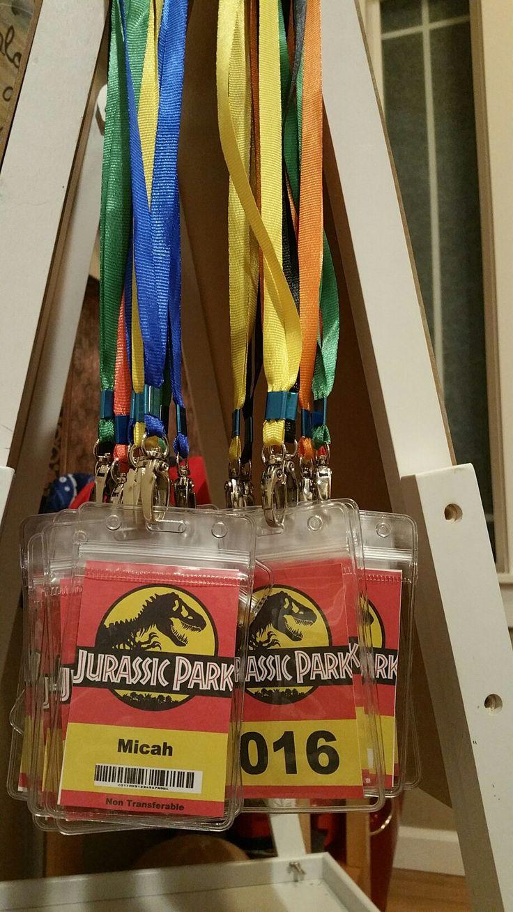 Jurassic Park Name Badges
