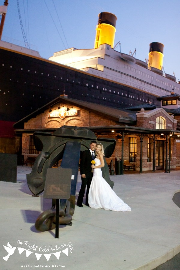 In Flight Titanic Styled Wedding Museum Pigeon Forge TN Photography By Kristen Steele