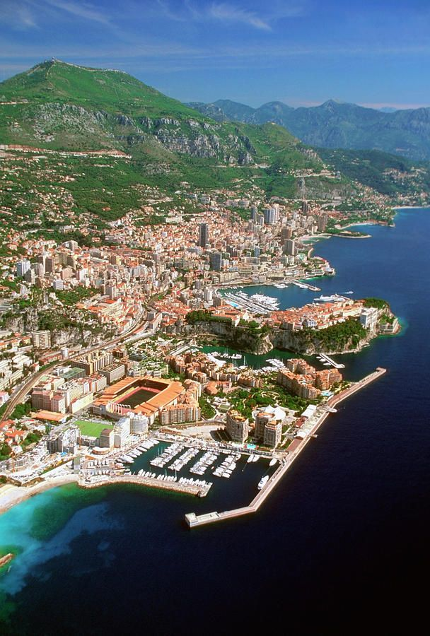 Monte Carlo, Monaco - Aerial View  - I was so close to this place, just around the bend . . . didn't have time to go!!!! Next time for sure!!!