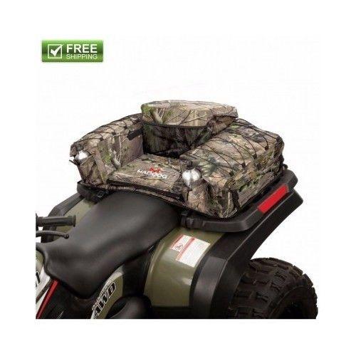 12 x 20 x 12 inch ATV Saddle Bag Camo Seat Pad Extra Large Rear Storage For Quad #Coleman