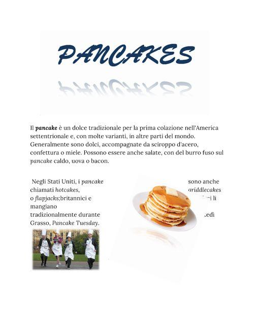Presentazione ricetta sui pancakes