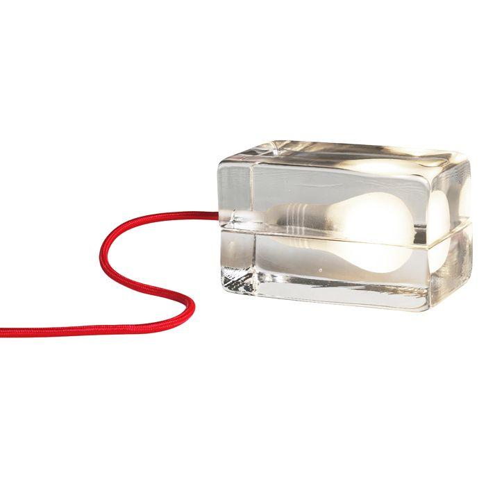 Block Lamp Red Cable, Design House Stockholm #inspiration #decor #homedecor #inredning #heminredning #lighting #designlight