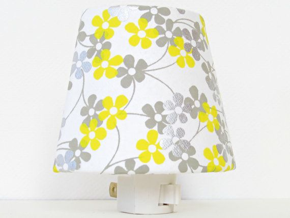 White Night Light  Yellow and Gray Nursery door TheOrangeChairStudio, $16.00