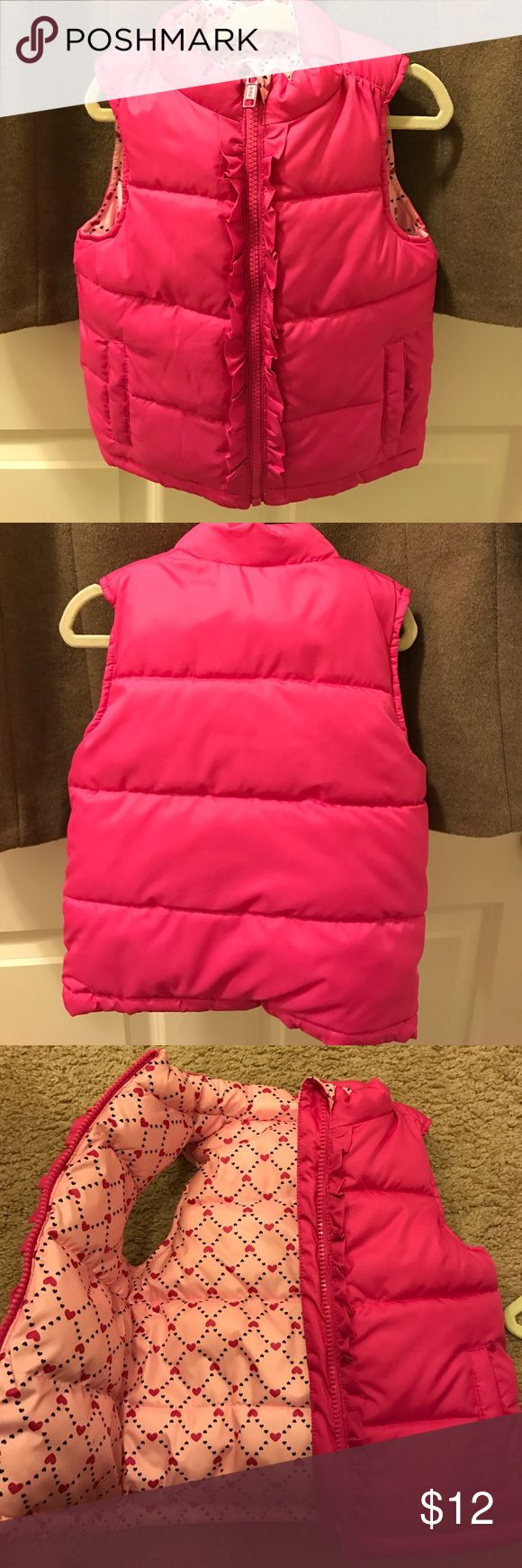 Pink Vest Super thick and warm - like new condition! No tag, fits my 3 y/o so likely 2T or 3T Jackets & Coats