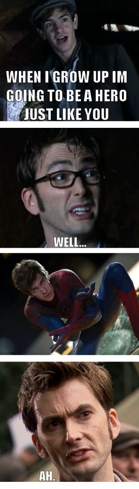 "When I saw that episode i was like ""It's Andrew Garfield! No. Yeeees! It can't be! But it is! But... No, no buts, its him. Better IMDb it..."" *proceeds to IMDb like never before* ""Holy Gallifrey, its Andrew Garfield. Freakin' Spider-Man was on Doctor Who!"""