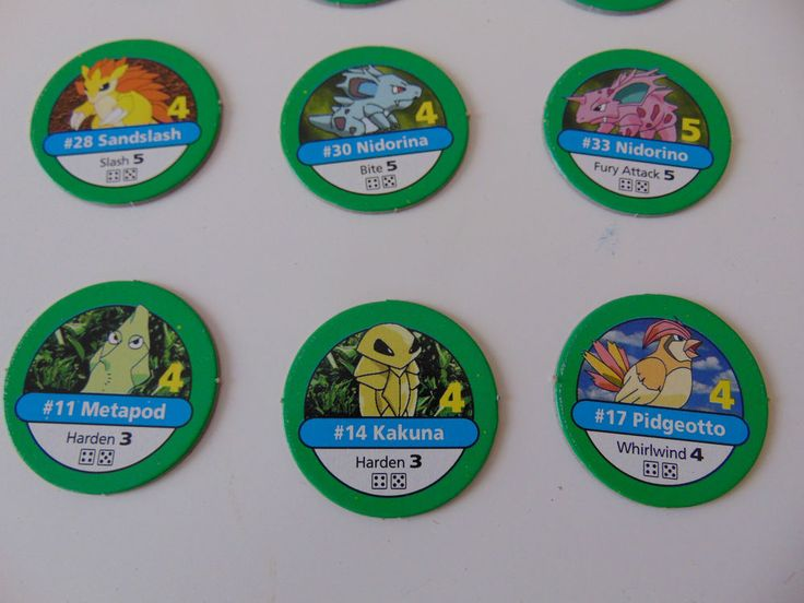 Pokemon Master Trainer Game Spare Part - Green Counter - Choose from Menu