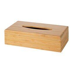 IKEA - BONDLIAN, Tücherbox, Aus Bambus, einem pflegeleichten, robusten Naturmaterial.