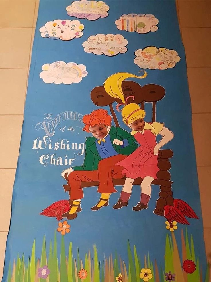 Enid Blyton -The Adventures of the Wishing Chair Classroom door for World Book Day at school.