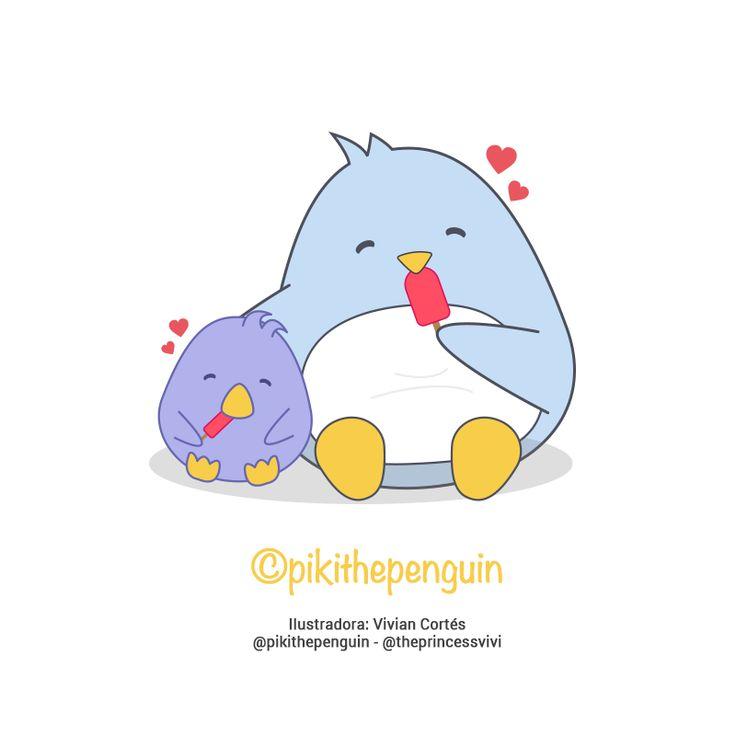 Piki tomando helado con su amigo