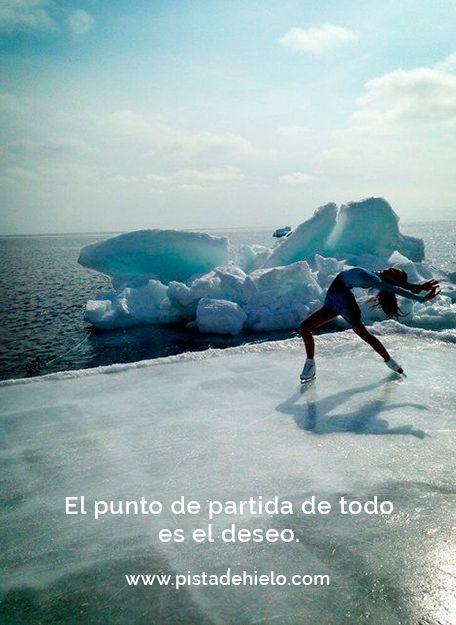 El punto de partida de todo es el #deseo. ¡Que tengáis un buen inicio de semana! http://www.pistadehielo.com/es/ #felizlunes #quotes #quote #frases #frasedeldía #iceskating