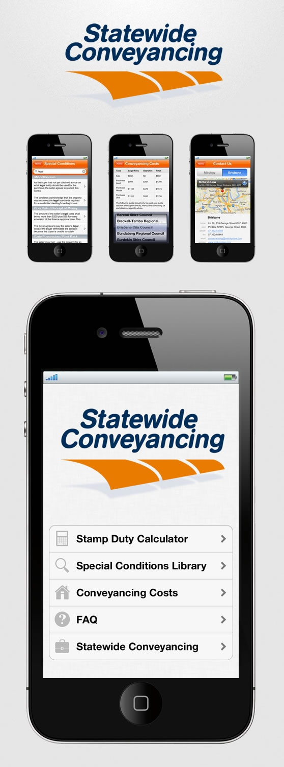 Statewide Conveyancing iOS App Website