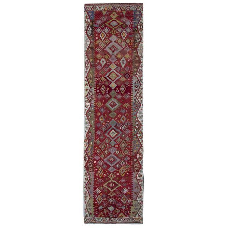 Best Handmade Carpet Antique Turkish Kilim Runner Stair 400 x 300