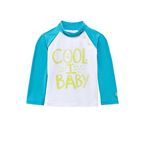 Coolibar UPF 50+ Child Rash Guard - Solar Protecting - UV Swimwear (6 Months - Coolibaby) Our Child Rash Guard supplies steadfast solar safety that is mild