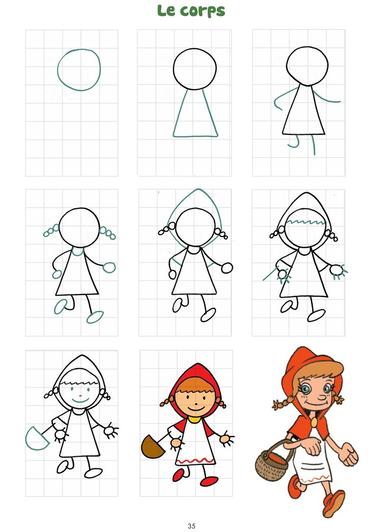 Domas toute dessin du petit chaperon rouge chaperon - Dessiner un loup facilement maternelle ...
