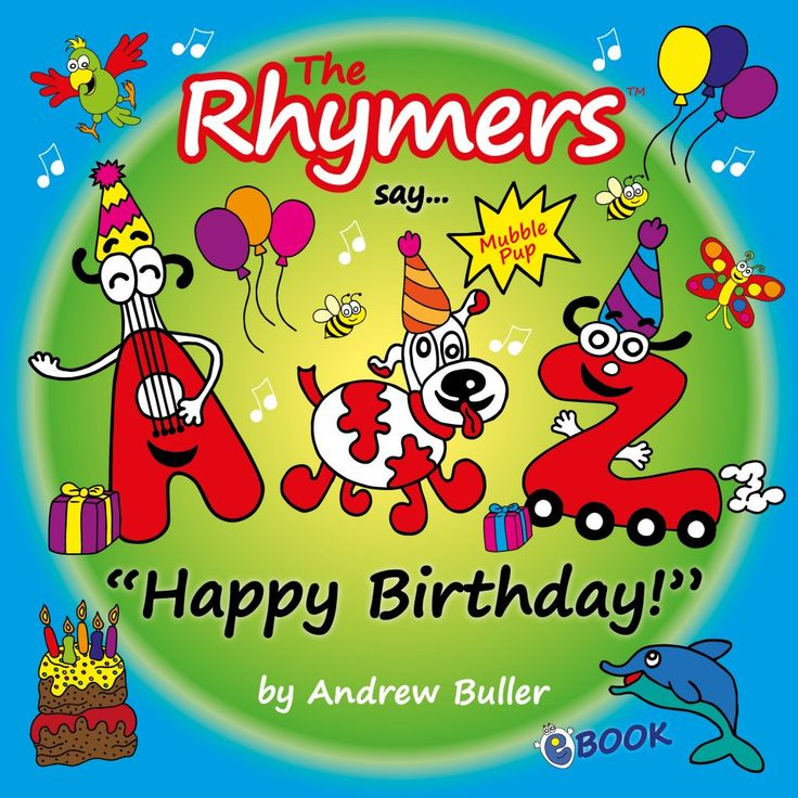 Happy Birthday personalised book from The Rhymers
