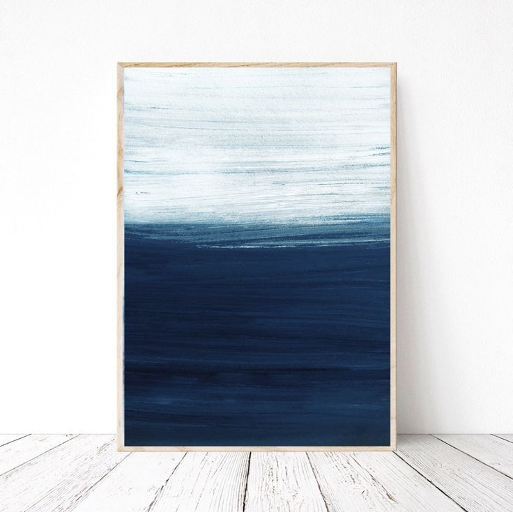 Navy Blue Abstract Wall Art Print For Instant Download Large Etsy In 2020 Small Ab Abstract Canvas Painting Blue Abstract Painting Small Abstract Painting